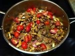 Italian Sausage, Garlic, Mushrooms, & Grape Tomatoes