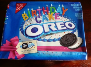 ... of cake…has anyone tried the special edition Birthday Cake Oreo